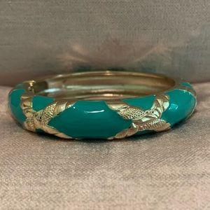 Sequin Turquoise Enamel Bracelet- Medium Width